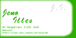 jeno illes business card